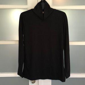 LOFT black turtleneck tunic XS